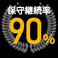 保守継続率90%